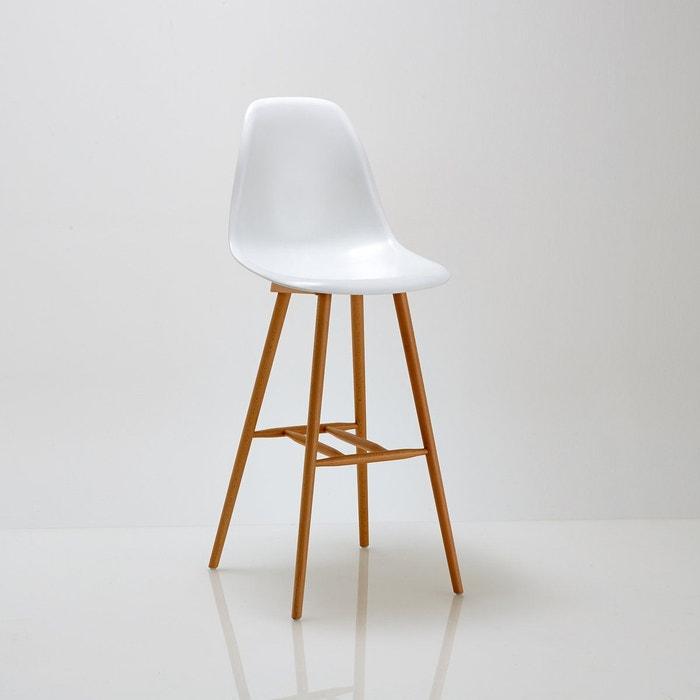 Chaise de bar jimi blanc la redoute interieurs la redoute for La redoute chaise