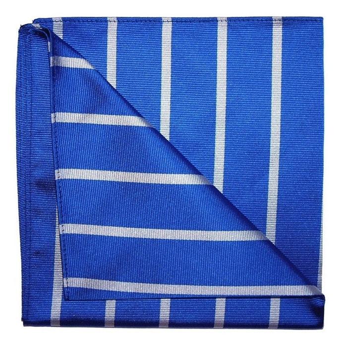 Pochette soie, tyler and tyler, stripe, bleu et blanc bleu Tyler Et Tyler   La Redoute