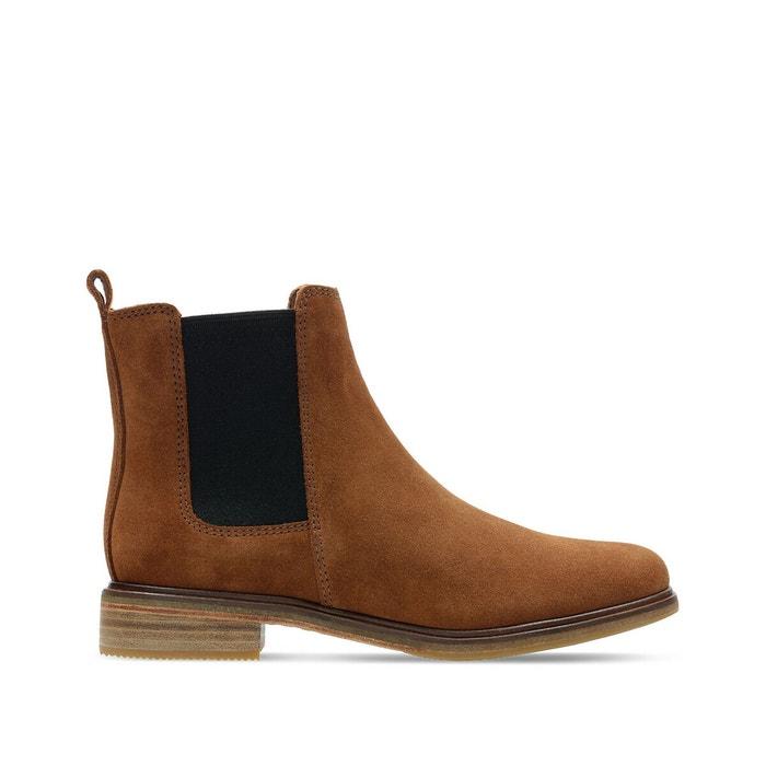 Chelsea boots in suèdineleer Clarkdale Arlo