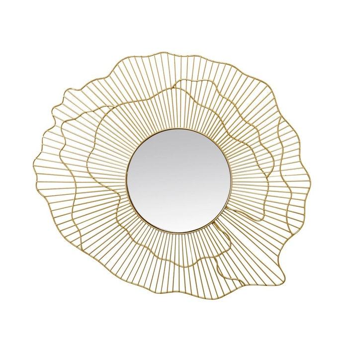 Miroir design fleur or emde premium la redoute for Miroir emde deco