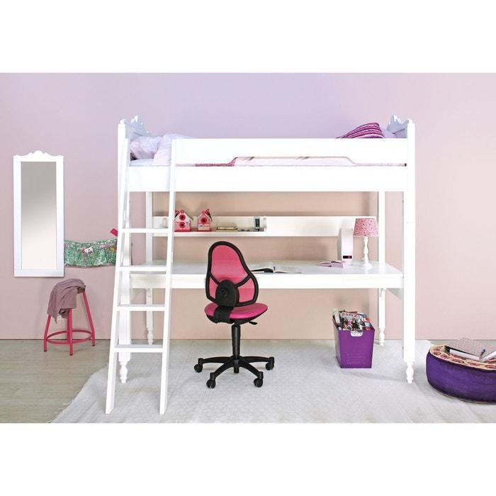 Table de bureau belle pour lit mezzanine xl belle blanc for Table de nuit pour lit mezzanine