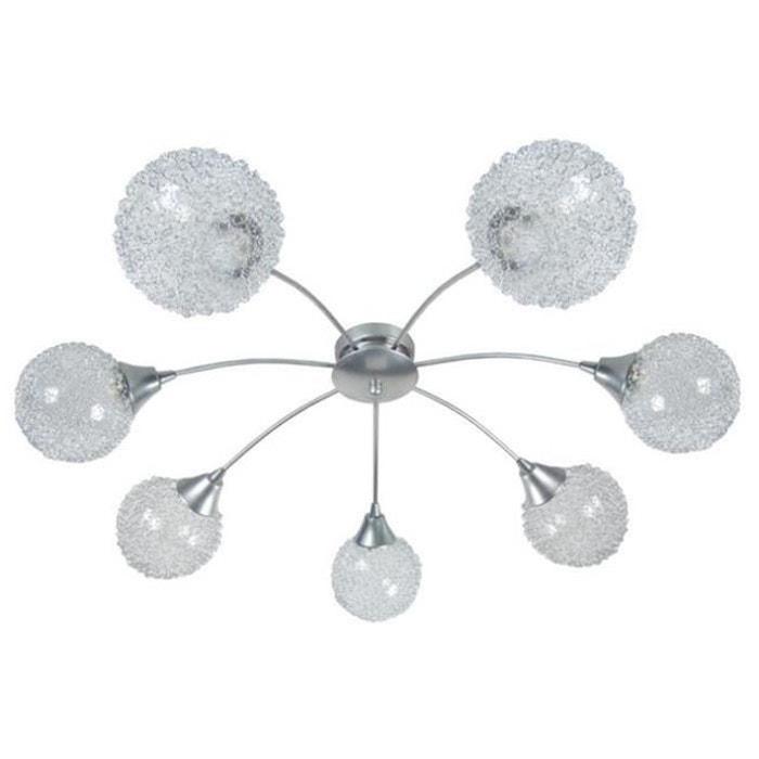 lustre suspension flush 7 lumieres actuelle gris philips. Black Bedroom Furniture Sets. Home Design Ideas