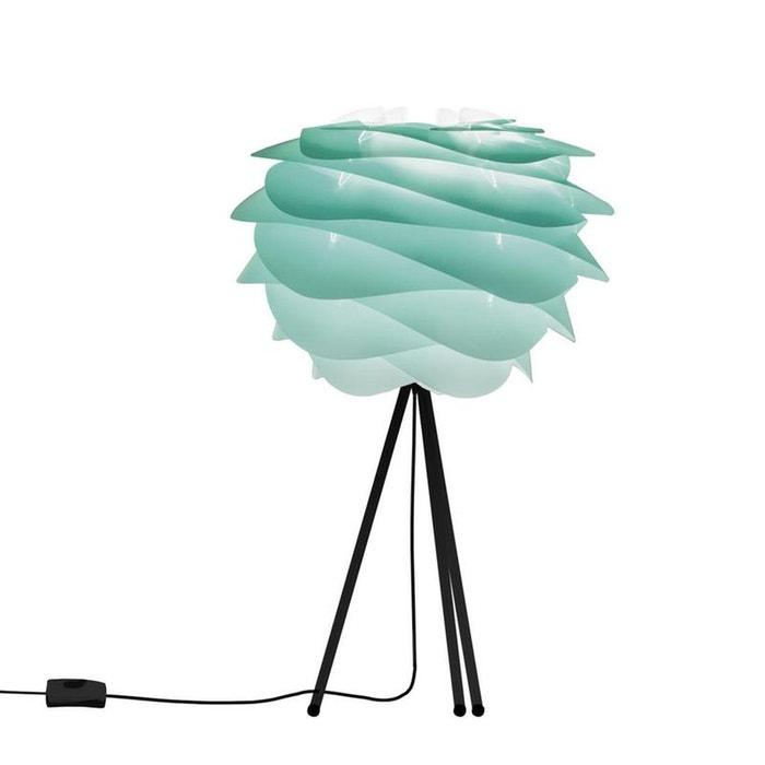 CARMINA - Lampe à poser Tie & Dye Turquoise/Trépied Noir Ø32cm  VITA image 0