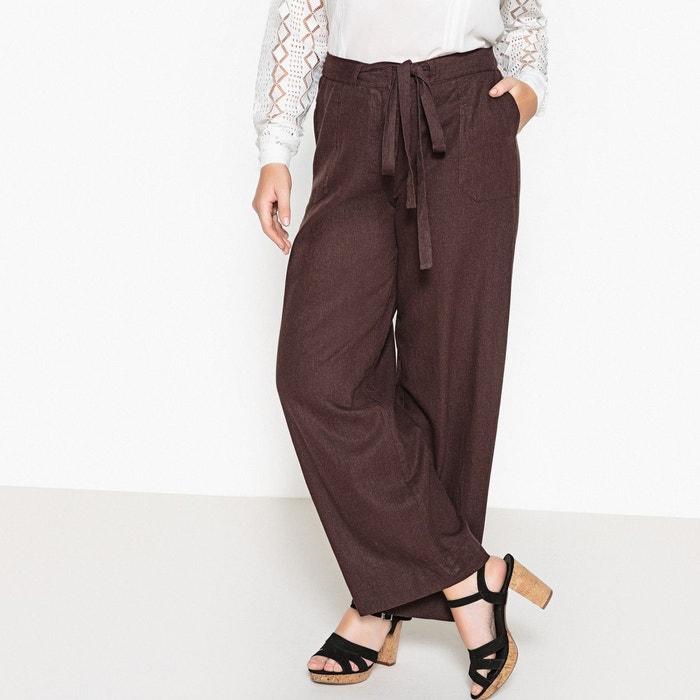 Pantalon large lin/viscose CASTALUNA
