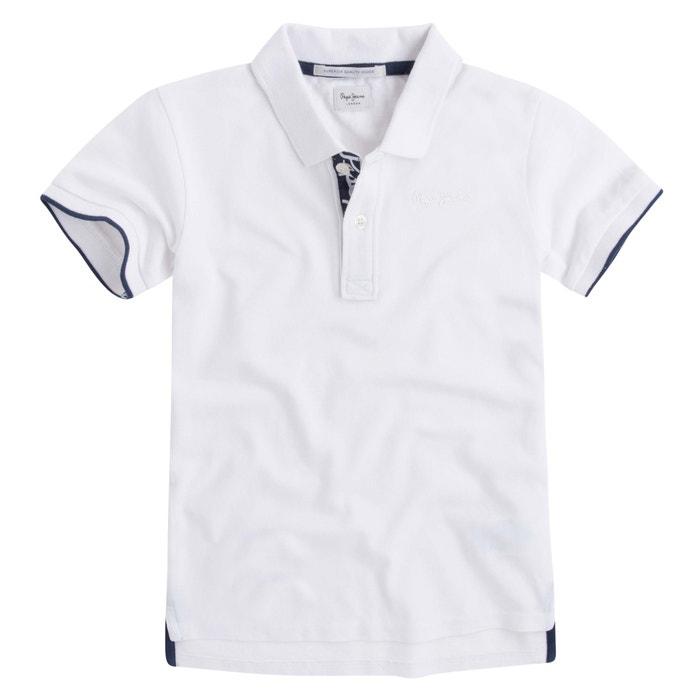 Plain Short-Sleeved Crew Neck Polo Shirt  PEPE JEANS image 0