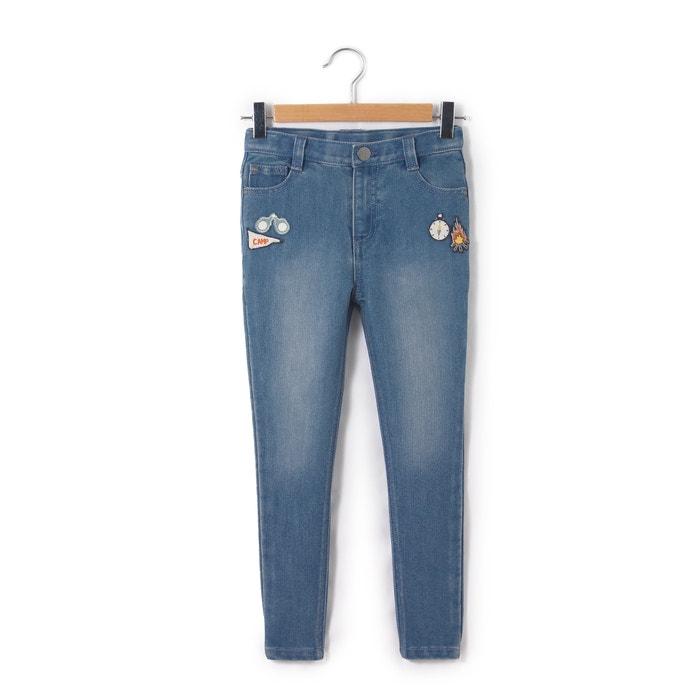 afbeelding Boyfit jeans met bagdes La Redoute Collections