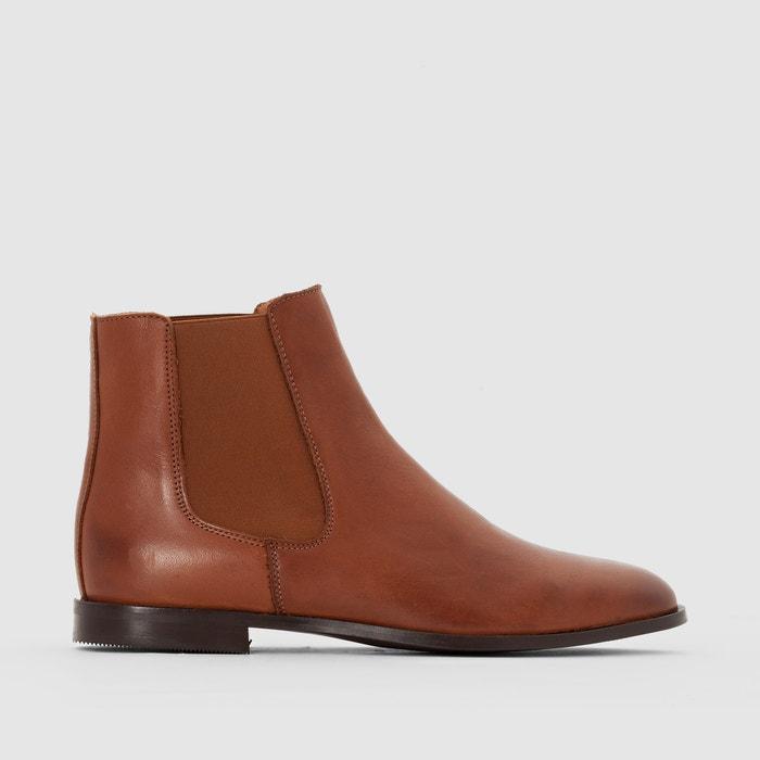 Image Boots en cuir élastiqués côtés R essentiel