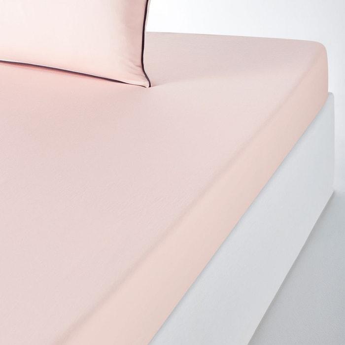 Drap housse satin de coton lavé pavone La Redoute Interieurs | La