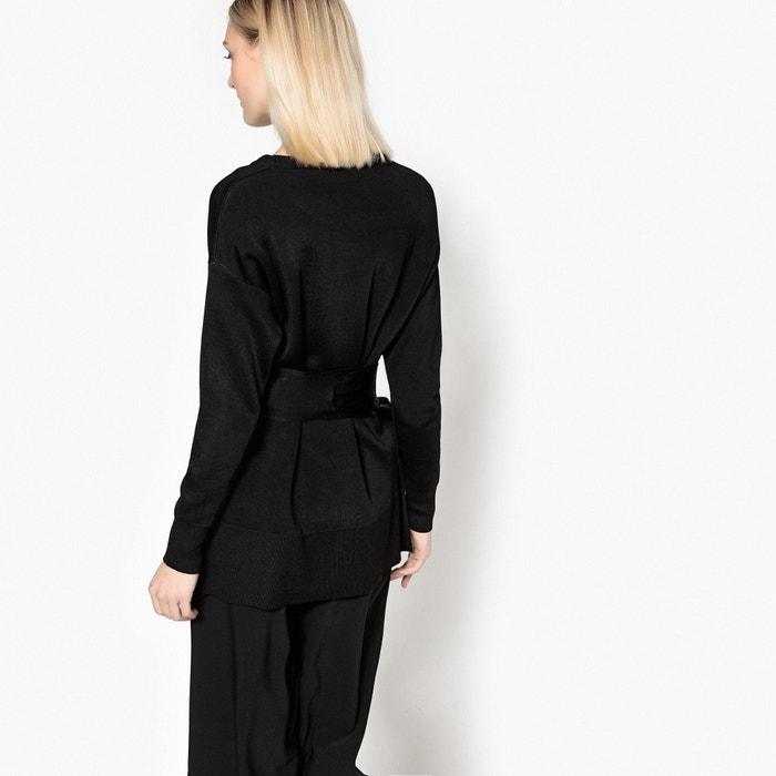 redondo cuello Collections cintura ajustado La la Jersey con Redoute en HfnpqS