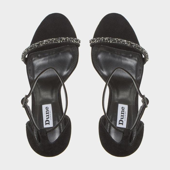Sandales à talon en deux parties ornées de perles - myrtle Dune London