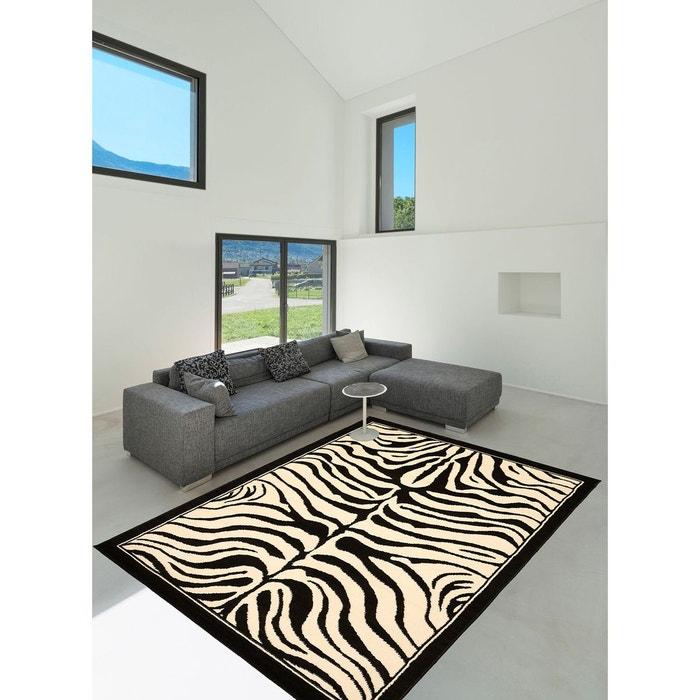 Tapis chambre zebre tapis moderne par unamourdetapis noir for Chambre zebre
