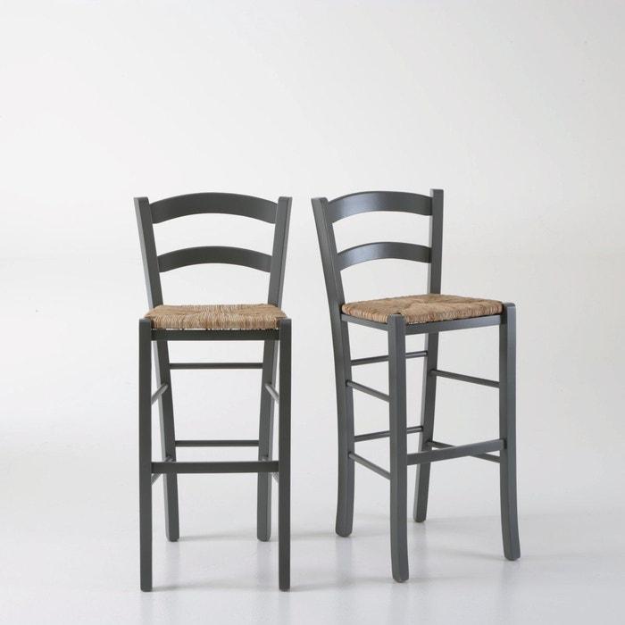 chaise de bar paysanne perrine lot de 2 la redoute shopping prix la redoute
