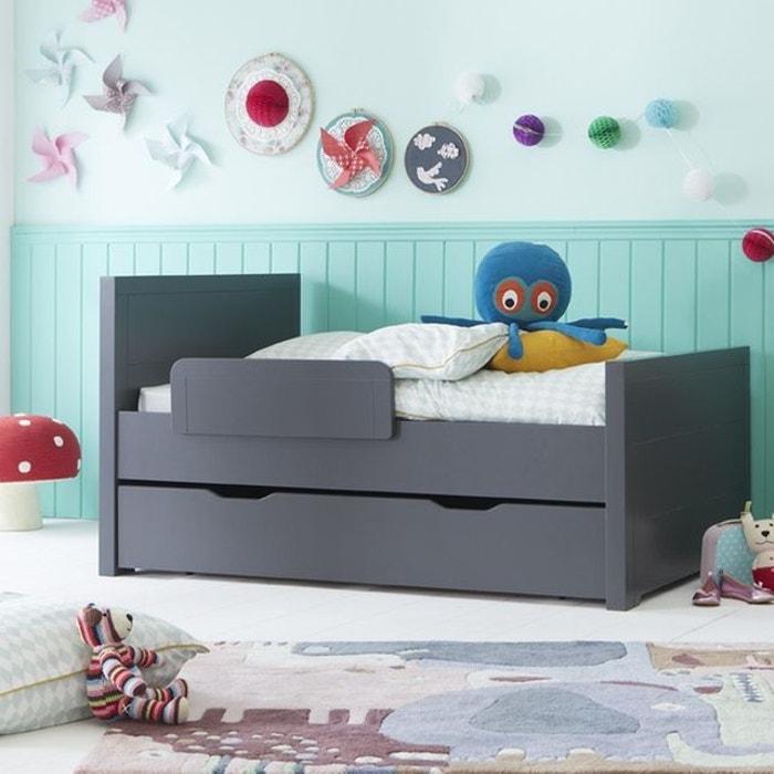 pack lit volutif 140 170 200 matelas tiroir anthracite anthracite alfred et compagnie la. Black Bedroom Furniture Sets. Home Design Ideas