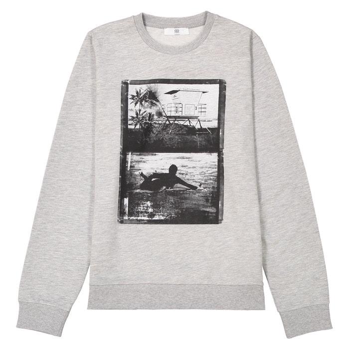 Printed Crew Neck Sweatshirt, 10-16 Years  La Redoute Collections image 0