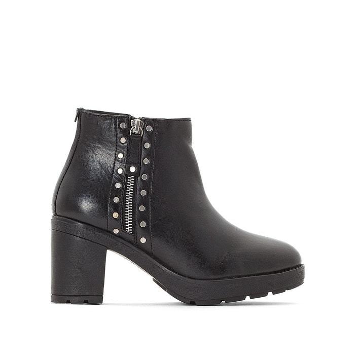 35c3b3bf72bbaa Boots cuir à talons tanissa noir Kickers | La Redoute