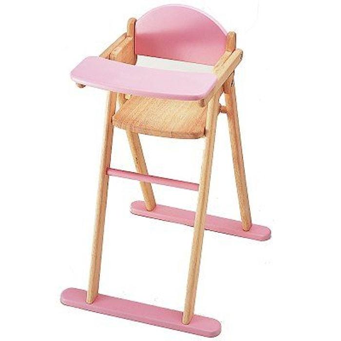 Chaise haute pour poupées PINTOY