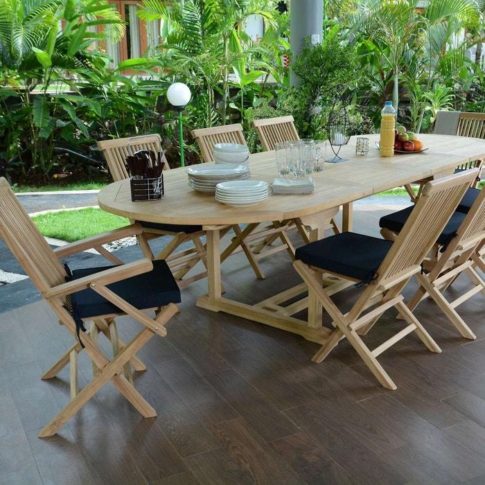 Salon de jardin en teck qualité ecograde biarritz, 8/10 places ...