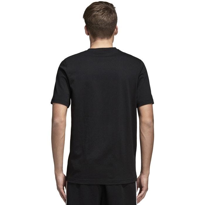 corta Adidas y estampado cuello originals manga delante Camiseta redondo con de 4xr4gHvwq