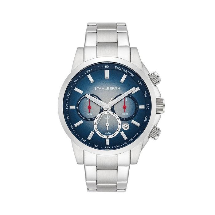 Montre analogique grimstad chronographe argent/bleu Stahlbergh | La Redoute Profiter En Ligne VfumMmH