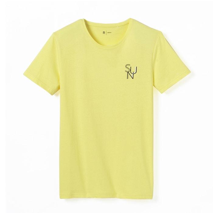 Image T-shirt imprimé col rond pur coton La Redoute Collections