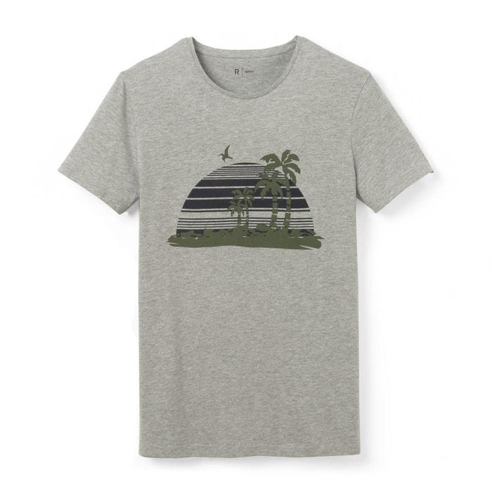 T-shirt col rond imprimé pur coton R Edition