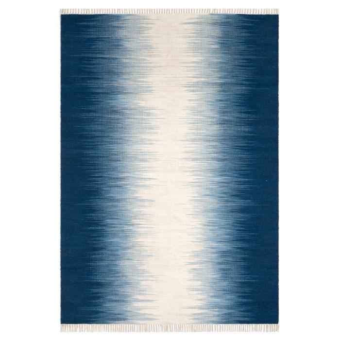 Tapete com tecelagem plana motivo kilim, em lã, Lilus AM.PM.