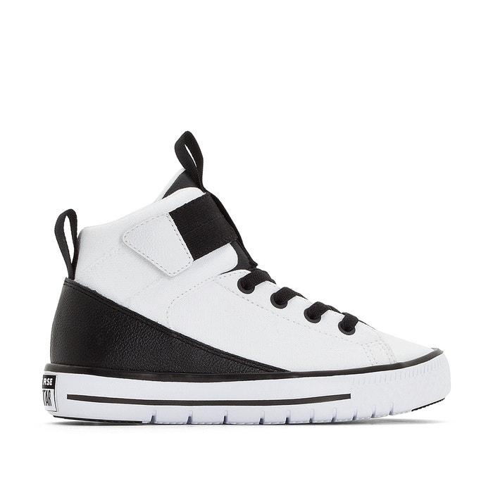 Zapatillas de caña canvas alta high street lite canvas caña blanco negro 394d51