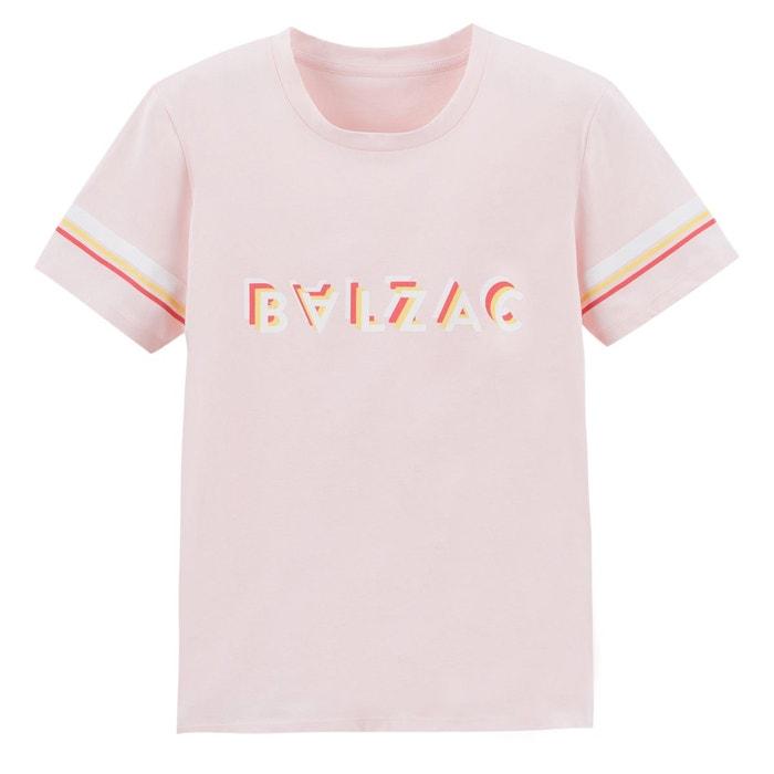 b10dee3dfcc T- shirt imprimé devant rose Balzac Paris X La Redoute Collections ...