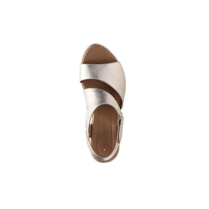 efa0da1c9a47 Un plaza sling leather wedge sandals