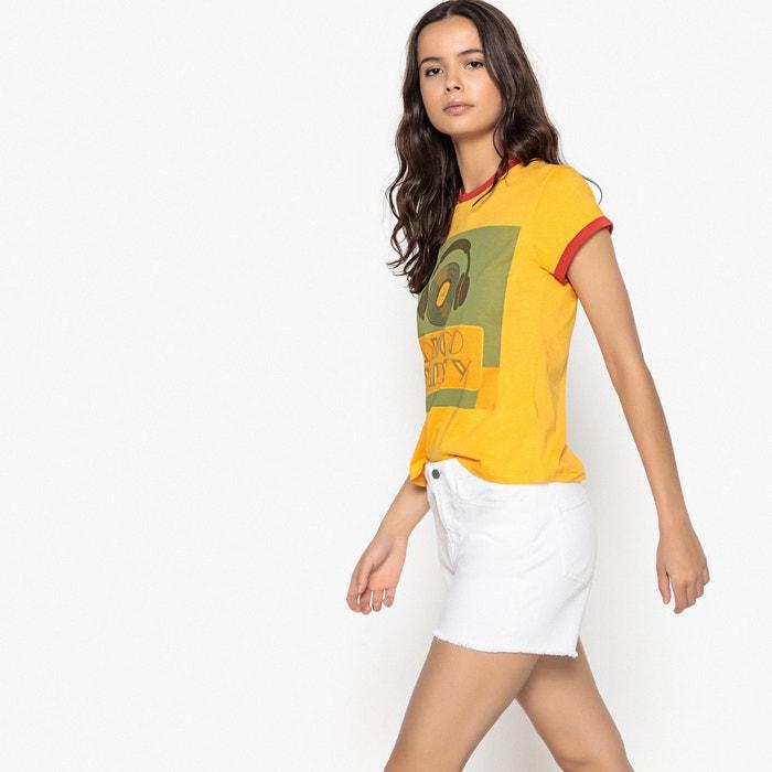 La corta cuello Redoute con manga redondo Camiseta Collections delante motivo HRgqrH