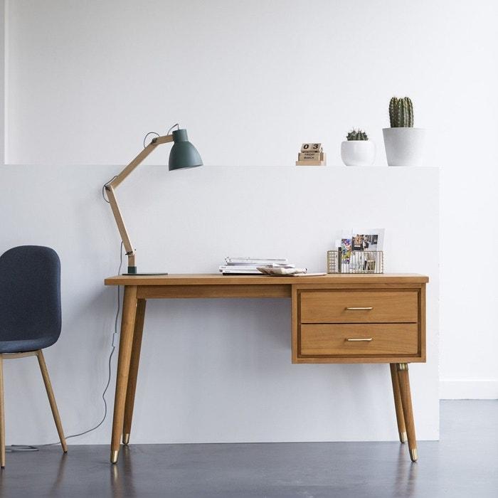 bureau en bois de teck kort teck brut tikamoon la redoute. Black Bedroom Furniture Sets. Home Design Ideas