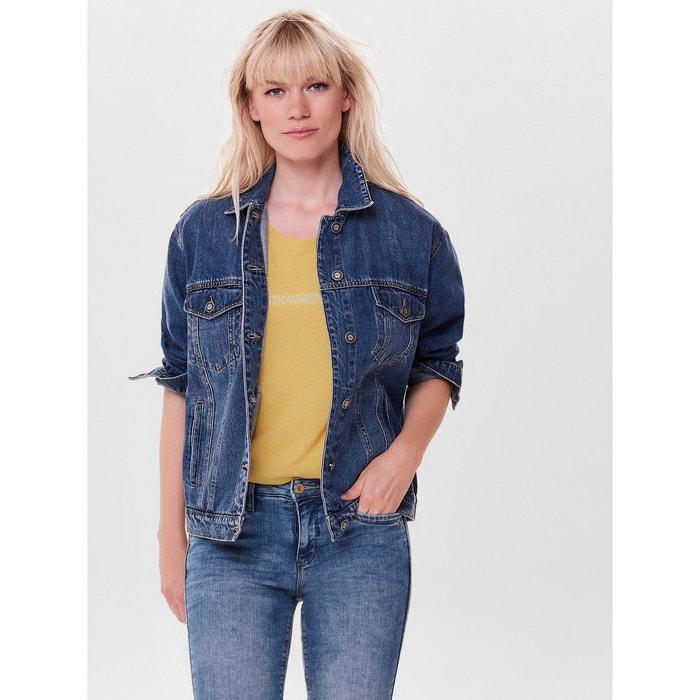 1dd320ecf5ff Veste en jean oversize bleu-medium blue denim Only