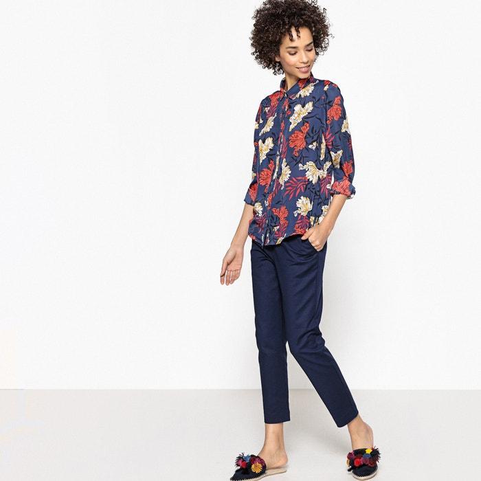 de de estampado vaporosa La Redoute flores Camisa manga larga Collections wqw8fI
