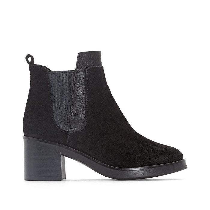 Boots cuir bounty noir Mjus