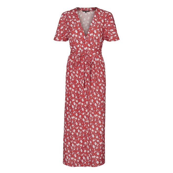 Bedrukte lange jurk, V-hals, korte mouwen  VERO MODA image 0
