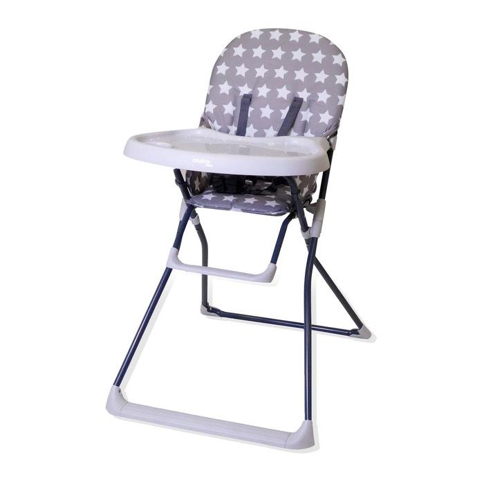 chaise haute pliante baby fox collection 39 etoiles 39 gris baby fox la redoute. Black Bedroom Furniture Sets. Home Design Ideas