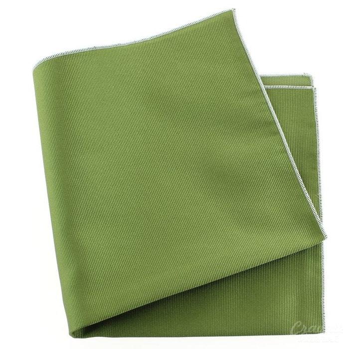 Pochette soie, vert mela, ourlet blanc vert Tony Et Paul | La Redoute