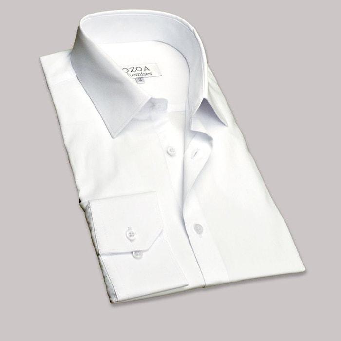 chemise homme blanche chemise cintr e blanc ozoa chemises la redoute. Black Bedroom Furniture Sets. Home Design Ideas