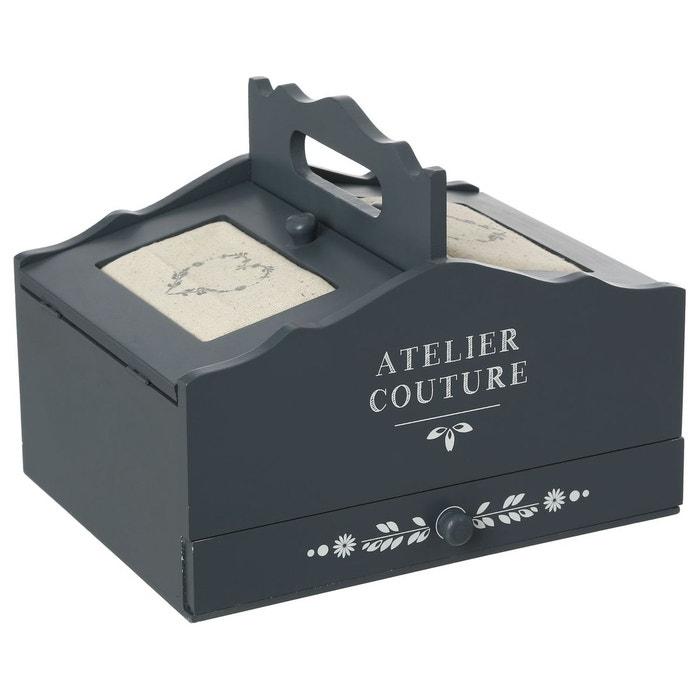 Bo te couture romance 3 tiroirs gris atmosphera la for Boite a couture la redoute