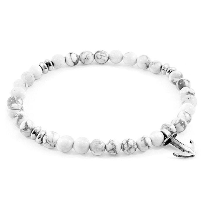 Bracelet starboard argent et d'howlite blanc Anchor & Crew | La Redoute Livraison Gratuite Achats En Ligne Jeu 100% Garanti 01de5zeoB2