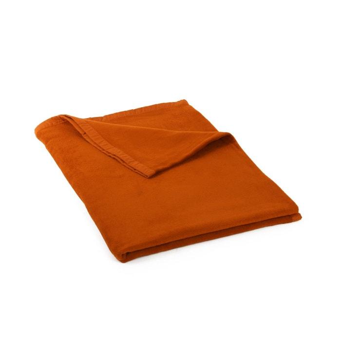 couverture en coton bio orange couleur unique yogistar. Black Bedroom Furniture Sets. Home Design Ideas