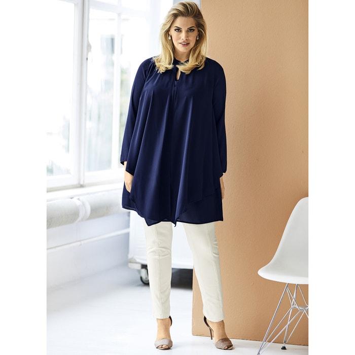 Plain Long-Sleeved Straight Cut Shirt  ULLA POPKEN image 0
