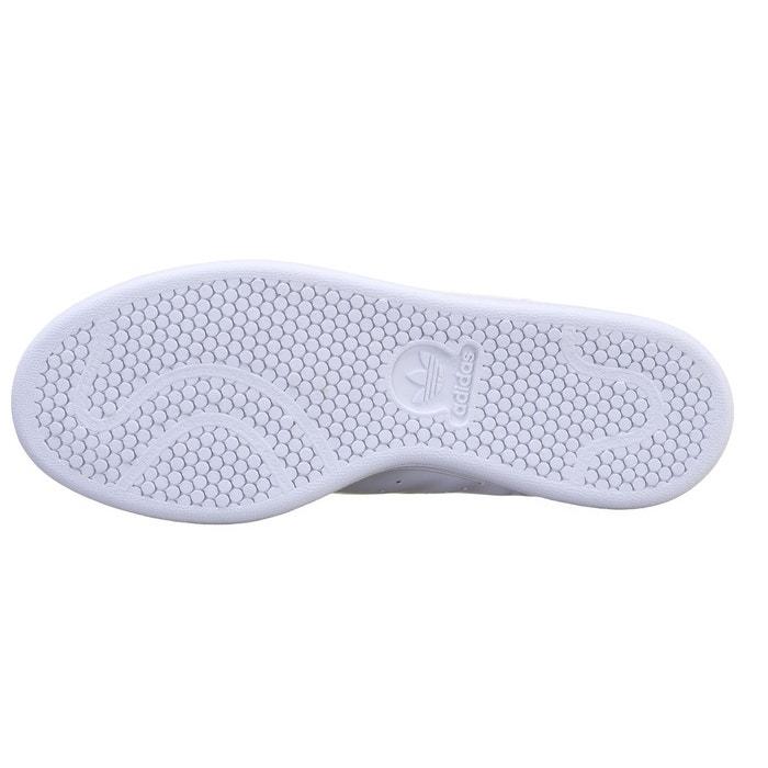 Baskets à scratch stan smith blanc/bleu Adidas