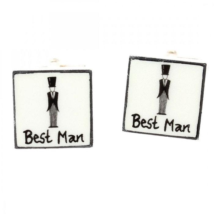 Boutons de manchette, best man, sonia spencer blanc Sonia Spencer | La Redoute
