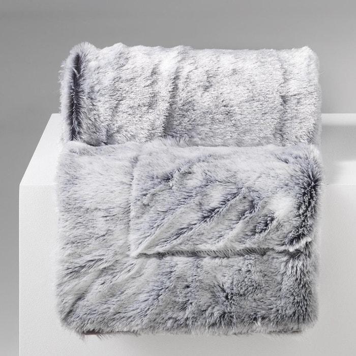 Plaid couverture a poil doux imitation fourrure