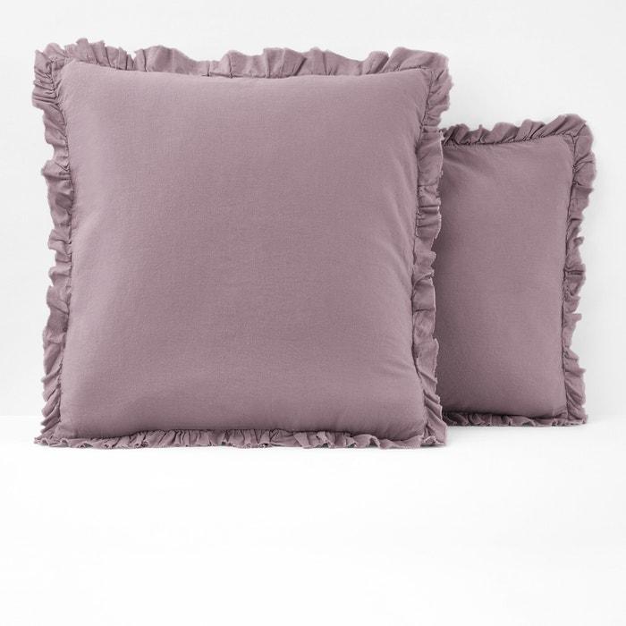 Image Federa per guanciale tinta unita misto lino/cotone, NILLOW La Redoute Interieurs