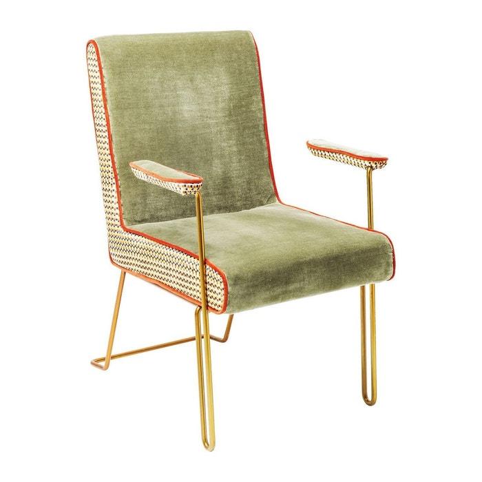 Chaise avec accoudoirs aunt betty kare design vert kare design la redoute for Chaise kare design