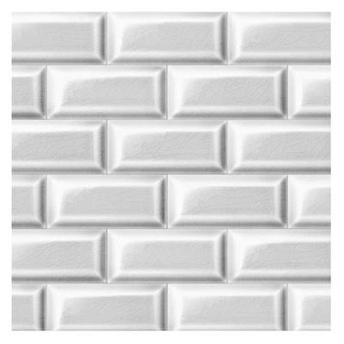 Carrelages papier peint blanc blanc koziel la redoute - Papier peint carrelage metro blanc ...