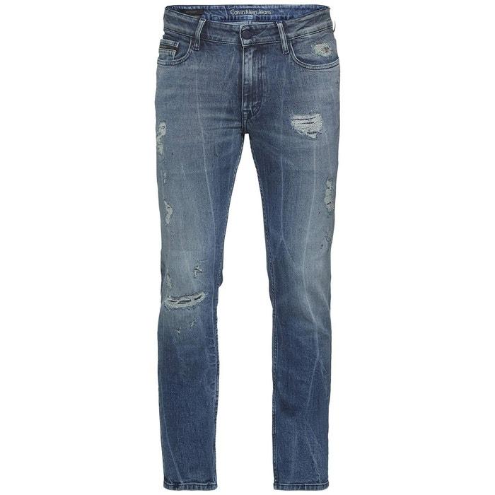 jean slim d chir bleu used calvin klein jeans la redoute. Black Bedroom Furniture Sets. Home Design Ideas
