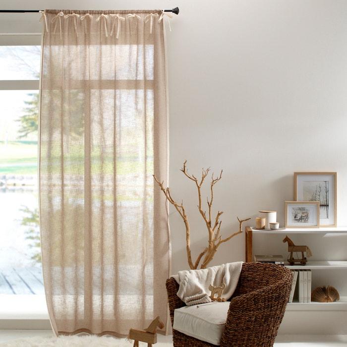 voilage effet lin galon fronceur meriza la redoute interieurs la redoute. Black Bedroom Furniture Sets. Home Design Ideas